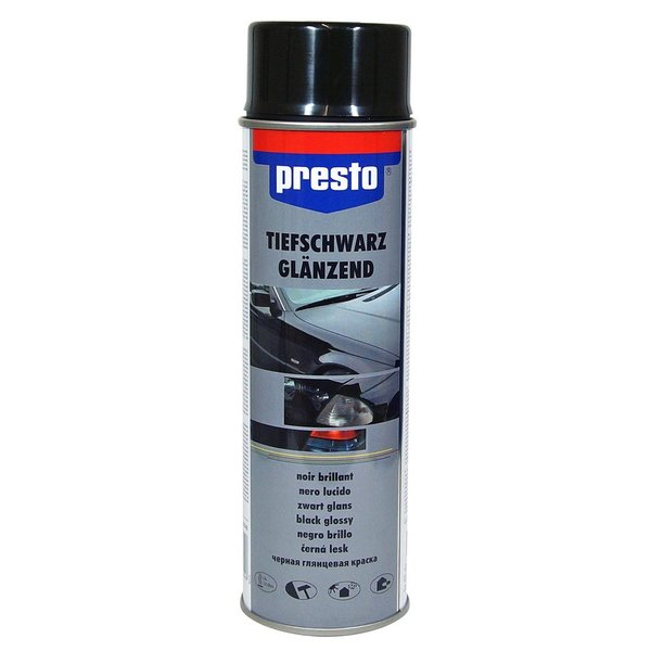 Farb-Spray / Rally-Spray SCHWARZ GLÄNZEND Presto (500 ml)