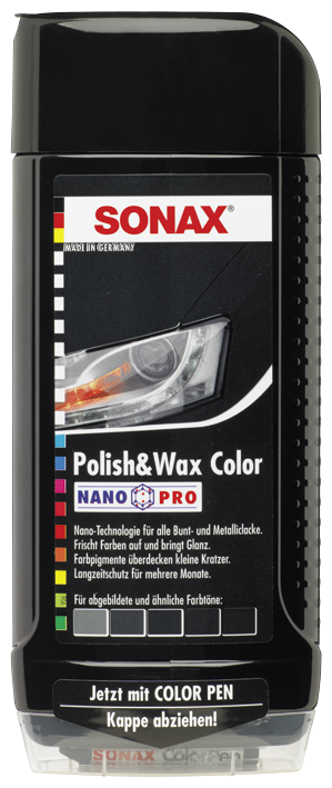 SONAX Polish & Wax Color NanoPro schwarz (500 ml)