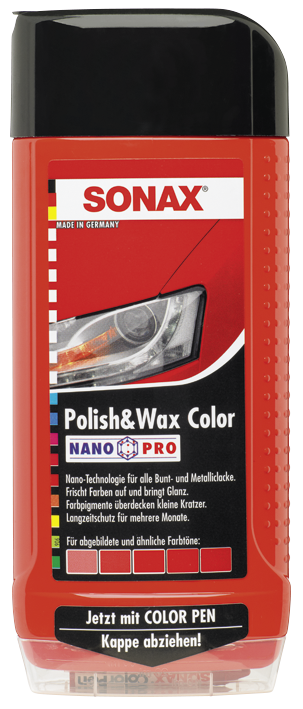SONAX Polish & Wax Color NanoPro rot (500 ml)