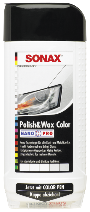 SONAX Polish & Wax Color NanoPro weiß (500 ml)