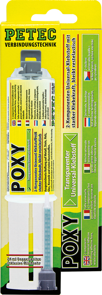 2-Komponenten POXY Kleber, transparent (24 ml)